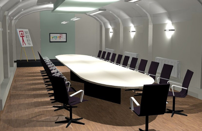 Meeting room in a cellar